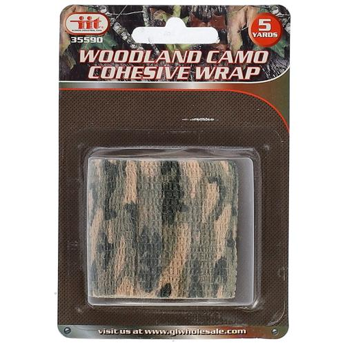 "Wholesale 2""x5yd WOODLAND CAMO COHESIVE"