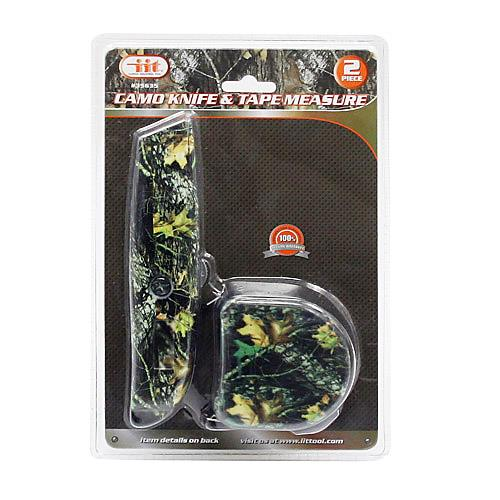 Wholesale 2pc CAMO KNIFE & TAPE MEASURE