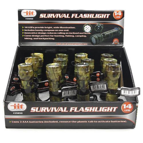 Wholesale 14 LED SURVIVAL FLASHLIGHT