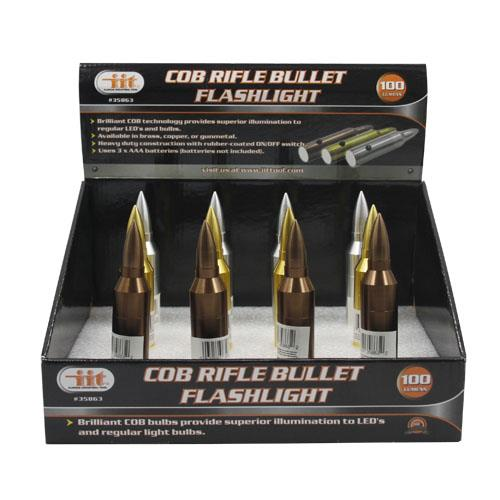 Wholesale 9 Led Rifle Bullet Flashlight