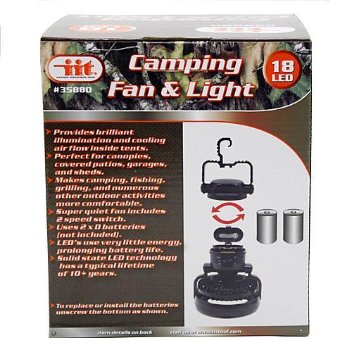 Wholesale 18 LED CAMPING LIGHT w/ FAN