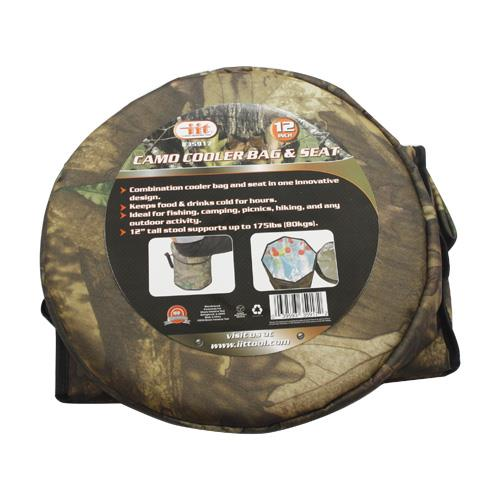 Wholesale 12 Camo Cooler Bag And Seat Glw