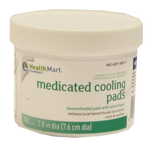 Wholesale 100CT MEDICATED COOLING PADS