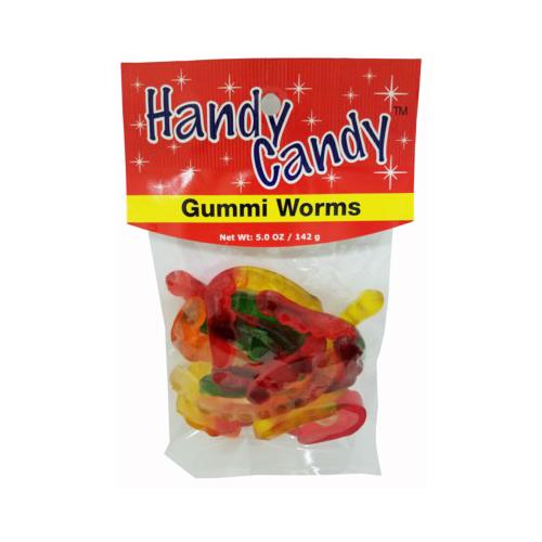 Wholesale HANDY CANDY GUMMI WORMS 24 PER CASE 5 OZ BAG