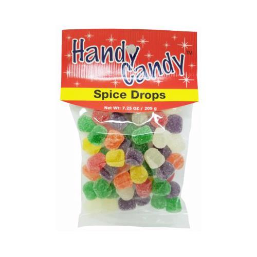 Wholesale HANDY CANDY SPICE DROPS 24 PER CASE 7.25OZ BAG