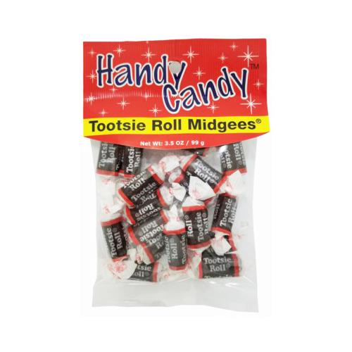 Wholesale HANDY CANDY TOOTSIE ROLL MIDGEES 24 PER CASE 3.5 OZ BAG