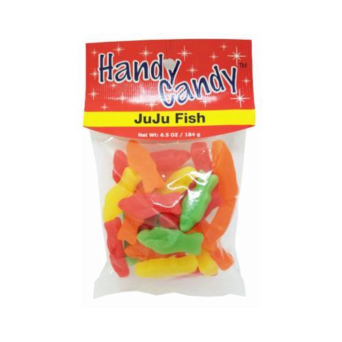 Wholesale HANDY CANDY JU JU FISH ASS'T 24 PER CASE 6.5 OZ  BAG