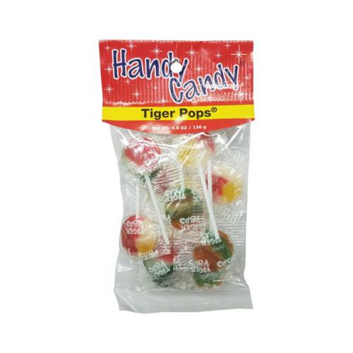 Wholesale HANDY CANDY TIGER POPS 24 PER CASE 4.8 OZ BAG