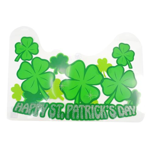 Wholesale St Patrick's Day PVC Glitter Wall Decoration