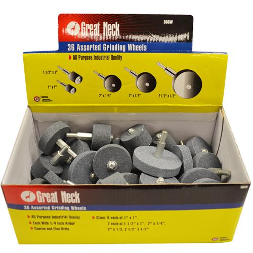 Wholesale ASSORTED GRINDING WHEELS 1/4""