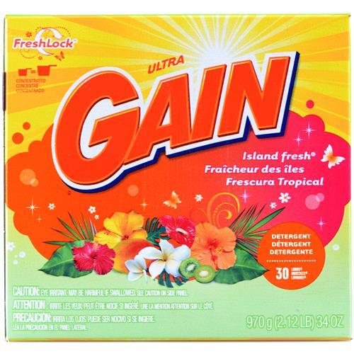 Wholesale Gain Powder Laundy Detergent Island Fresh 30