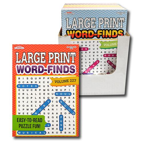 Wholesale LARGE PRINT WORD FINDS 2 TITLES