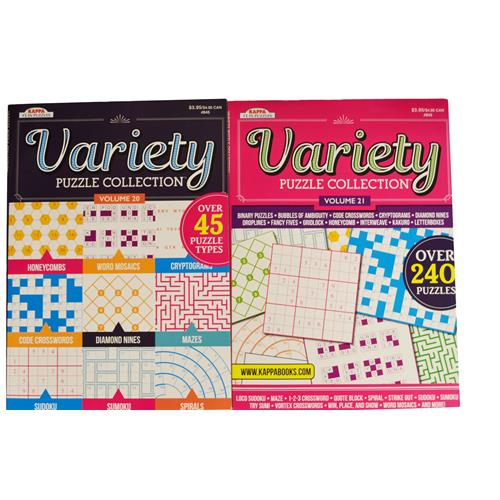 Wholesale 98pg VARIETY PUZZLE COLLECTION