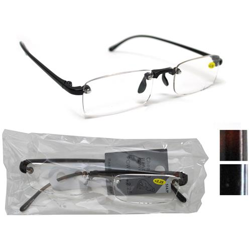 Wholesale Rimless Plastic Reading Glasses Assorted Powers ...