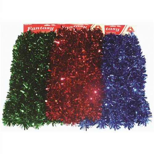 Wholesale garland tinsel x quot blue red green ea