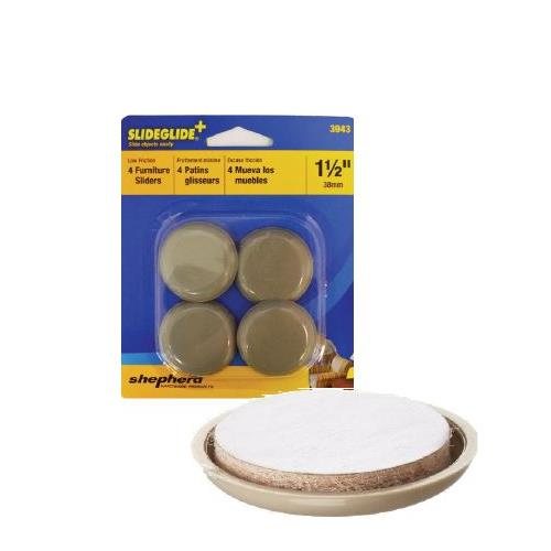 "Wholesale 4PK 1-1/2"" ROUND FURNITURE SLI"