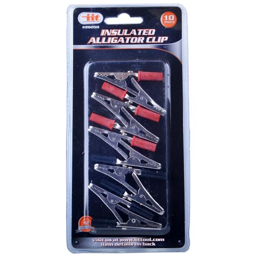 Wholesale Insulated Alligator Clips - 5 Red and 5 Black