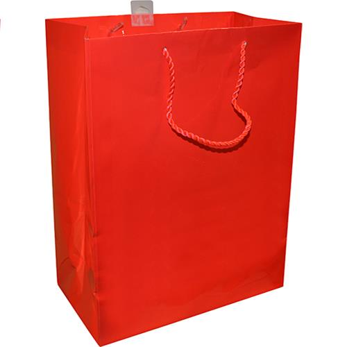 "Wholesale Hallmark Gift Bag Red 9.5x12.5x5.25""  Med."