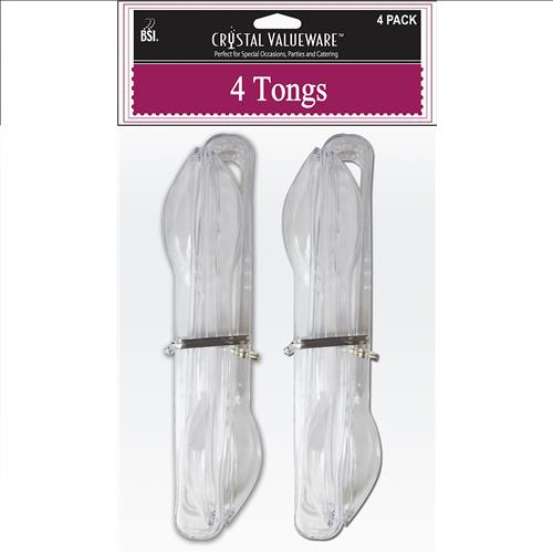 Wholesale Crystal Valueware Set of 4 Plastic Tongs