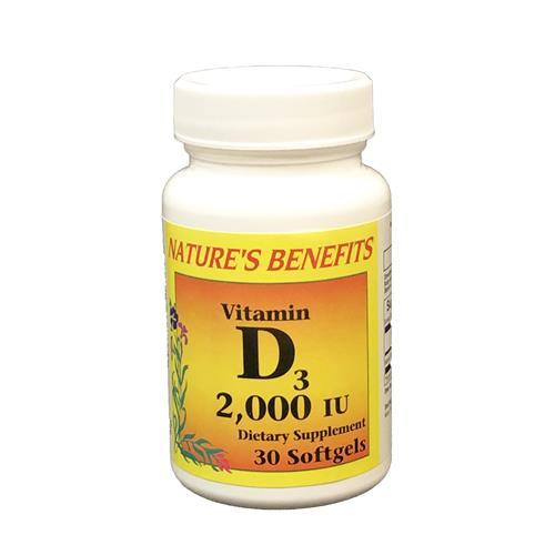 Wholesale Nature's Benefits Vitamin D 2000 30CT