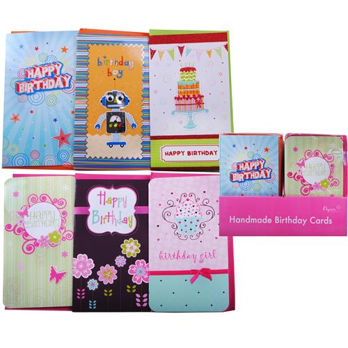 Wholesale Extra Large Handmade Birthday Cards in Counter Display