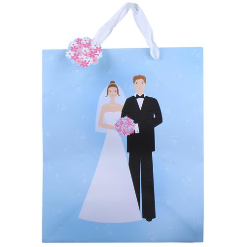Wholesale Wedding Large Gift Bags - Bride & Groom