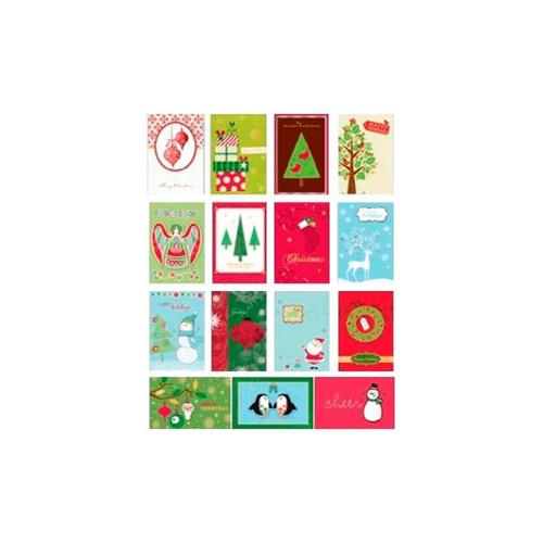 Wholesale Handmade Christmas Assorted 4 Card Value Pack In Counter Display