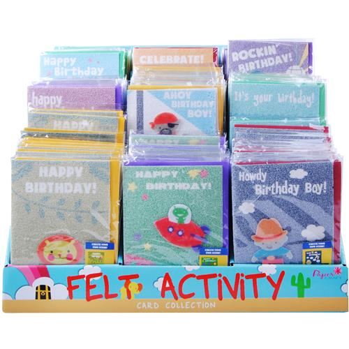 Wholesale Sticker Activity Birthday Cards in Counter Display
