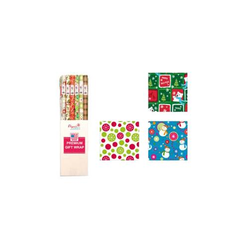 "Wholesale Cmas Wrap 3 Assorted 40"" x 9"" 30 Square Feet"