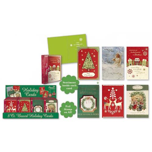 Wholesale BOXED CMAS CARDS 6 ASST C/D- T
