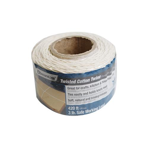 Wholesale 420' TWISTED COTTON TWINE 3LB SAFE WORKING LOAD