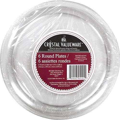 "Wholesale Crystal Valueware 6-5.75"" Round Plates"