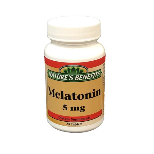 Wholesale Nature's Benefits Melatonin 5mg Tablets 24ct