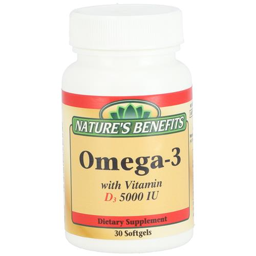 Wholesale Nature's Benefit Omega-3 with Vitamin D3 5000IU