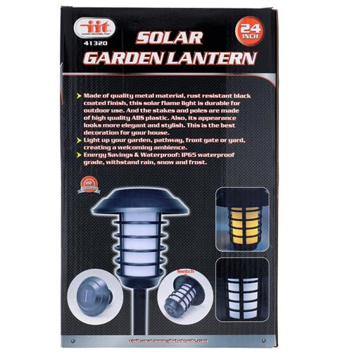 "Wholesale 24"" SOLAR FLICKERING FLAME LANDSCAPE TORCH"