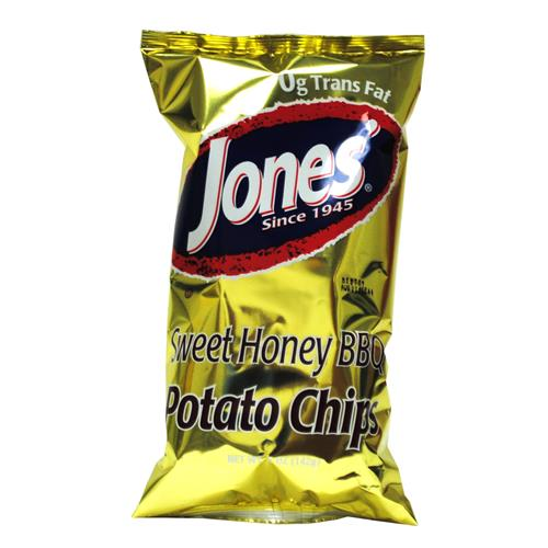 Wholesale Jones Sweet Honey Bar-B-Que Potato Chips Expire 8/14