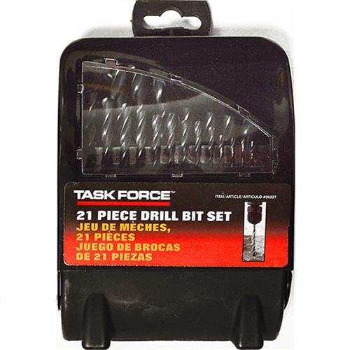 Wholesale 21pc DRILL BIT SET METAL CASE