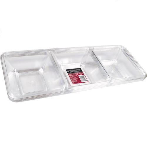 Wholesale Crystal Valueware 3 Compartment Tray