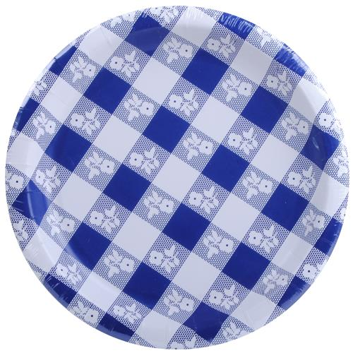 Wholesale Blue Gingham Paper Plate 7      sc 1 st  GREAT LAKES WHOLESALE & Wholesale Blue Gingham Paper Plate 7