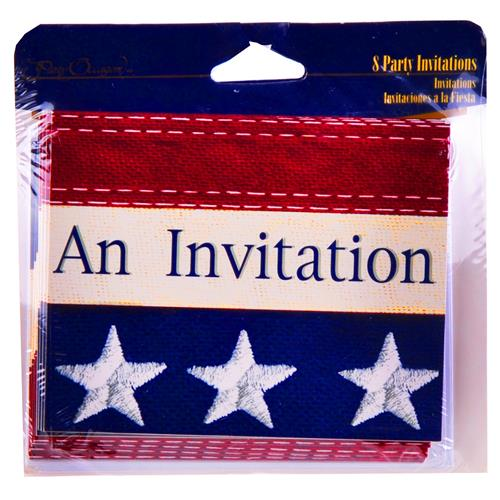 Wholesale Old Glory Party Invites/Envelops