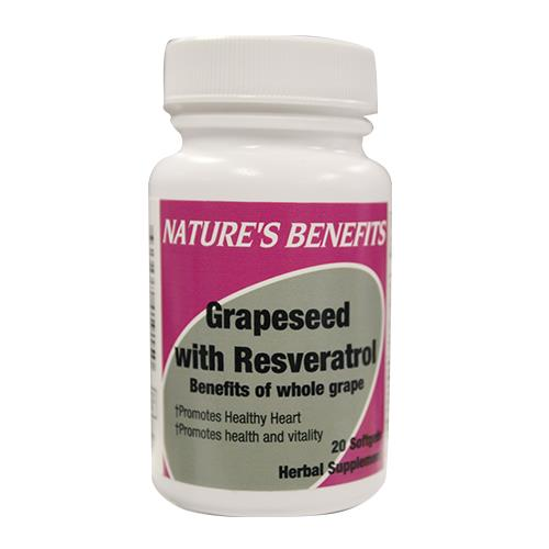 Wholesale VICEN GRAPESEED W/RESERVATROL 20CT