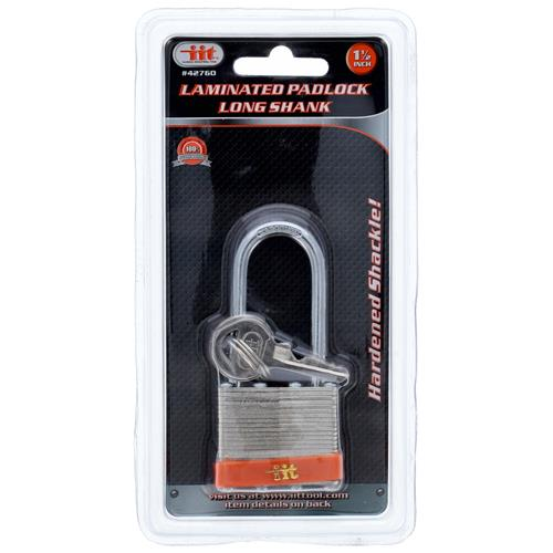 "Wholesale 1-1/2"""" Laminated Padlock Long Shank"