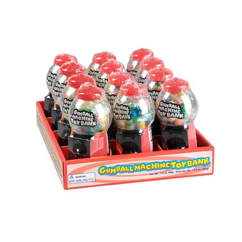 Wholesale Gumball Machine Toy Bank with Gum - Red
