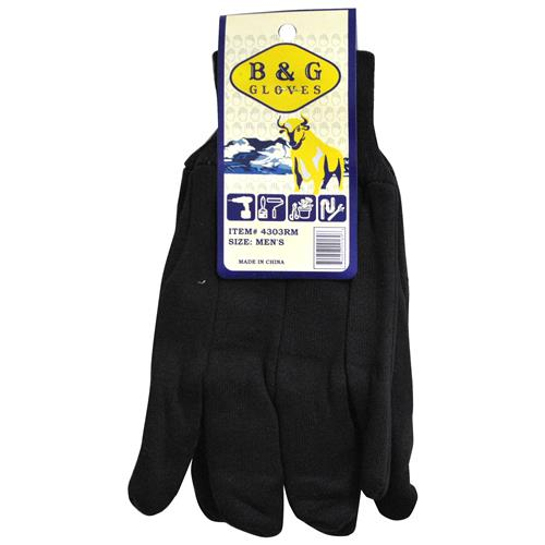 Wholesale Red Lined Knit Wrist Heavy Jersey Glove