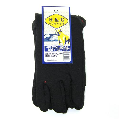 Wholesale Red Lined Open Cuff Heavy Jersey Glove