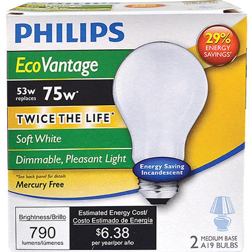 Wholesale 2pk 53=75W ECO V HALOGEN BULBS