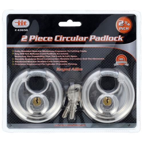 "Wholesale 2PK 2-3/4"" DISC LOCK SET"