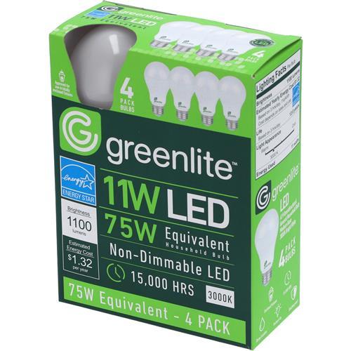 Wholesale 4PK 11=75W LED A19 BULBS BRIGHT WHITE
