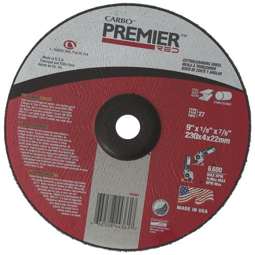 Wholesale CARBO PREMIER 9x1/8x7/8'' DEPRESSED CENTER CUTTING/GRINDING WHEEL