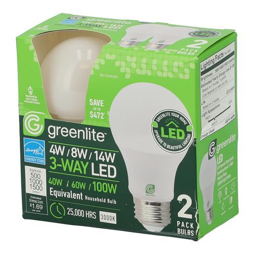 Wholesale Z2PK A19 LED BULBS 3-WAY 4-8-14=40/60/100 WATT